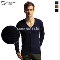 SINDOK 2014 fashion brand men's cardigan render unlined upper garment Knitted sweater wholesale fashion British autumn wind