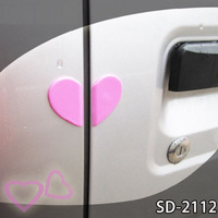 Heart crash of the door anti-rub door auto supplies pvc door crash bar 4pcs/set Bumper stickers