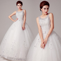 The 2014 latest wedding dress shoulders - Korean fashion pearl bride wedding band together in wedding