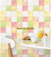 Free Shipping PVC self-adhesive Mosaic wallpaper/ Waterproof high quality wall sticker home decor kitchen/bathroom HWP-21624