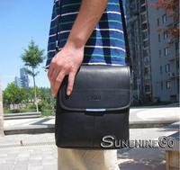 2014   New Style Leather Men Portable Baodan Shoulder Oblique Cross Leather Man Bag Briefcase Business Package B-019