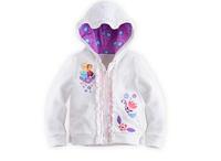 Girls hoodie Autumn /Spring Frozen  printing cartoon white outerwear  Blazer zippers coat  T120 retail free shipping