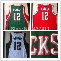 Milwaukee #12 Jabari Parker White Green Red Rev 30 Basketball Jersey, Size: S-XXL ,Free Shipping