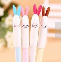 10 PCS/lot free shipping stationery store shot kawaii school supplies and lovely rabbit gel pen/stylo/neutral pen