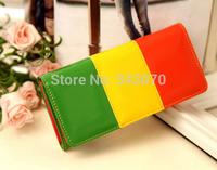 Candy colors fashion women wallet long style PU leather lady wallets female coin purse handbag money purses mobile bags
