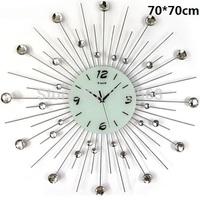 gz014-1 Free shopping 1pcs 70*70cm super atmospheric Europe wrought iron set auger fashion creative mute wall clock room