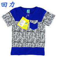 2014 wholesale China Famous Brand WARRIOR TBR New Fashion spring summer boys patchwork short sleeve cotton kids Original t-shirt