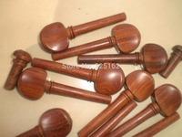 8 PCs Rose wood Violin Pegs with 2 pcs end pin 4/4