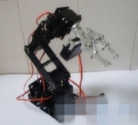 New 6 DOF Manipulator Aluminum Robot Arm Kits + 6pcs Servo