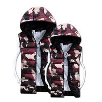 2014hot men's hooded vest camouflage vest couple new autumn very warm   size S-XXXL(MZ00017)