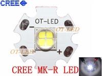 Freeshipping!Cree Lamp MKR MK-R LED Emitter 1769LM 6000K 15W 12V White LED Chip Light with 20mm Board
