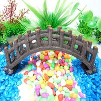 "Hotsale Mini Drawbridge Aquarium Ornament 6.7""  Aquarium Fish Tank Ornament Decoration Bridge free shipping"