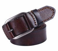 New 2014 hot men strap genuine leather belt brand fashion belt mens cowskin belt buckle