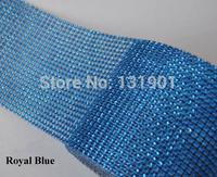 (FL183)10 Yards Sparkle Royal Blue Diamond Mesh Wrap Roll Crystal Rhinestone Bling Ribbon