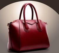 Free shipp4 color vintage real leather women's shoulder bag genuine leather fashion ladies messenger handbag shopping smile bags