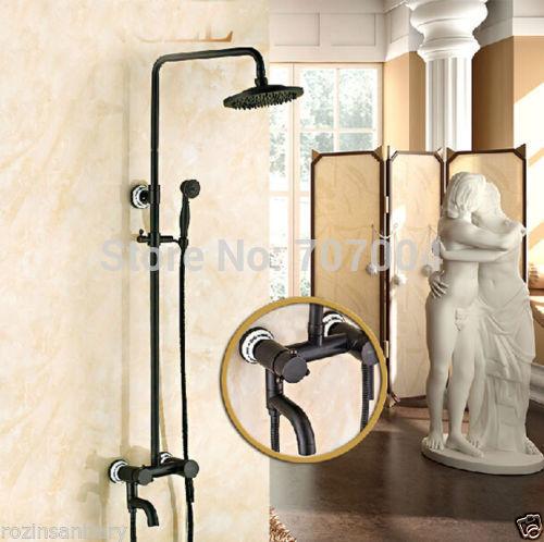 ... dusche wasserhahn gesetzt Öl rieb bronze brausebatterie(China