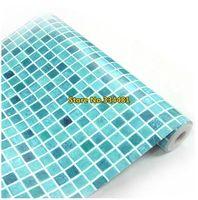 Free shipping 50*200cm Mosaic wallpaper oil paste bathroom waterproof wallpaper waistline HWP-035 Home decoration