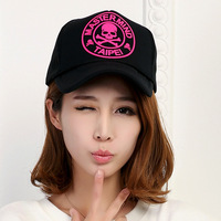 2014 Korean version of the influx of men and women spring day hip-hop circles skull Benn truck mesh cap baseball cap visor