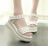 wholesale free shipping Hot-selling 2014 summer sweet rhinestone platform wedges shoes women sandals cool