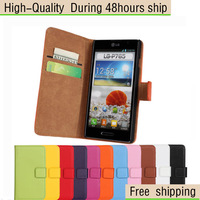 High Quality Genuine Leather Wallet Flip Stand Case Cover For LG Optimus L9 P760 Free Shipping UPS DHL EMS HKPAM CPAM
