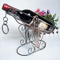 The new bionic design elegant wrought iron wine rack series bronzed Home Decoration