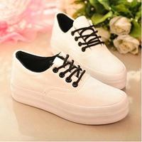 Fashion Shoe Woman Breathable Casual Canvas Black White Platform Women Sneakers Running Shoes Zapatillas de deporte Sport
