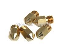3D Printer Nozzle Mixed Sizes 0.2mm/0.3mm/0.4mm Extruder Print Head For 1.75MM MK8 Makerbot 100pcs DHL/FEDEX free shippment