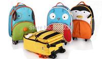 New arrival Children Backpacks Trolley School Bag Kids Fashion Travel Bags Animal Bag On Wheels Free Shipping
