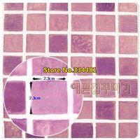 Free shipping 50*200cm Mosaic wallpaper oil paste bathroom waterproof wallpaper waistline HWP034 Home decoration