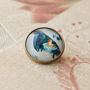12pcs/lot Girl Bird Moon Star Brooch Pin Handmade DIY Jewelry xz17(China (Mainland))