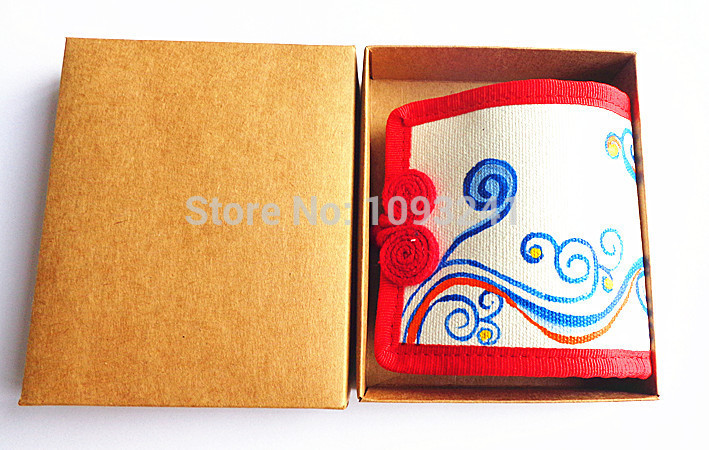 Chinoiserie hand painted ethnic cotton canvas wallet promotion purse(China (Mainland))
