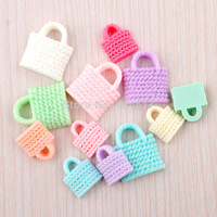 50pcs Resin Lovely Bag Flatback Buttons DIY Scrapbooking Appliques