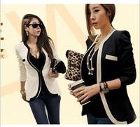 High quality 2014 new occupation OL fine Mature jacket wind waist coat suit chaquetas Slim Blazer hook Double pocket Outerwear