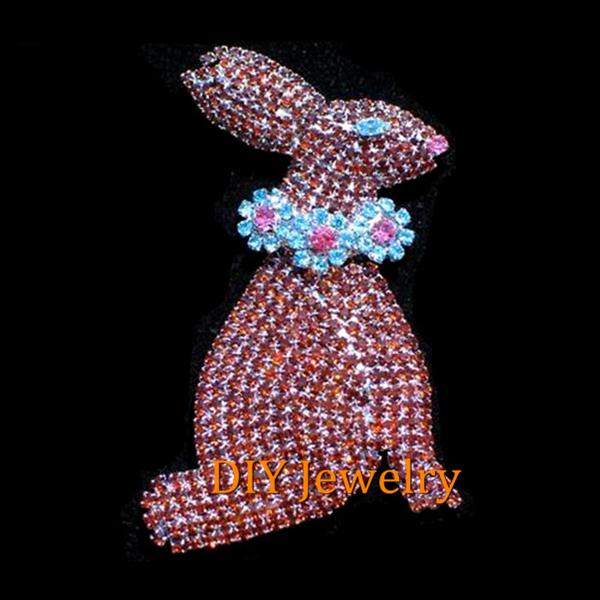 Rhinestone Easter Pins Rabbit Brooch Pins Easter
