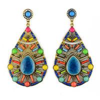 Brinco 2014 Multi Color Bohemian Luxury Party Evening Women Drop Dangle Fashion Earring Jewelry Accessories