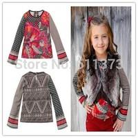 autumn children t shirts, tops&tees, new brand baby girls t shirt, designer kids clothes girl