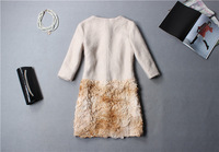 European high-end women's winter new cloth dyed embroidery in the sleeve coat
