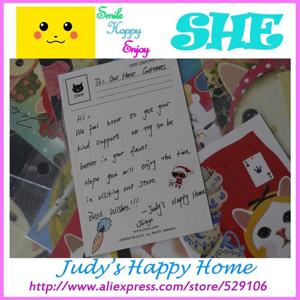80 pcs Friend Festival Creative Greeting Postcard Cute Animal Cartoon Kawai Jetoy Cat School Christmas New Year Wishing Postcard(China (Mainland))
