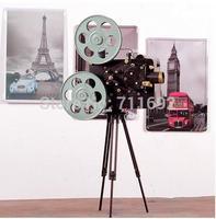 DIY  romantic Zakka vintage Film projector Home Decorations Film projector model environmentally Bar Decoration 26*17cm