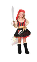 2T/4T Girl's Pirate Costume, Halloween Costume, Child's Costume, Birthday Dress Up