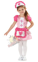 Cute Nurse Dress and Apron Girls Fancy Dress Uniform Kids Childrens halloween Costume  Sweetheart Age 2-4 Years