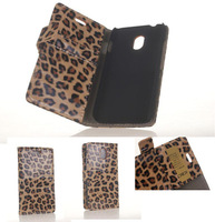 Top Quality Sex Leopard Wallet PU Flip Leather Phone Bag Case Cover With Stand Holder Credit card Slots For HTC Desire 210