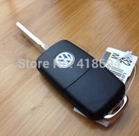 In stock Folding Car Remote Flip Key Shell Case For Vw Golf Passat Polo Bora 3 Buttons