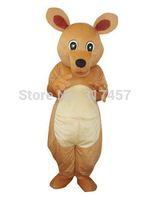 NEW ARRIVE Kangaroo Mascot Big Eyes Yellow Fancy Dress Mascot Costume Adult Character Cosplay mascot costume free shipping