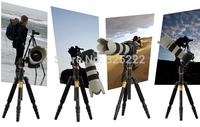 QZSD-02 Professional Photographic Portable Tripod Set For Digital SLR Camera Only 35cm Load Bearing 15Kg  Q666+14
