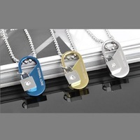18K Gold Plated Eternal Love Logo Lock for Women Gift Gift 316L Stainless Steel Lock Pendant Necklace Fashion Jewelry