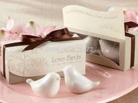 "Hot Sale Wedding Gift 40pcs (20sets) 2014 newest Wedding Favors ""Love Bird"" Salt Pepper Shaker Favor Party Decoration"