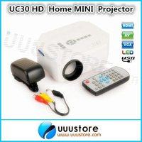 2014 New,UC30 HD Home Mini portable Digital Projector For Video Games TV Movie Support HDMI VGA AV Portable
