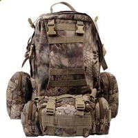 Airsoft Large Assault Backpack Bag With Detachable Molle Pouches HIGHLANDER CAMO