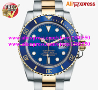 HK Post Free Shipping 116613LB Blue Dial Ceramic 2 tone Gold Steel Bezel Sapphire Glass Luxury Men's Watch Tag Watches 116618